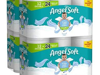 Angel Soft Toilet Paper  linen Scent  12 Count of 214 Sheets Per Roll