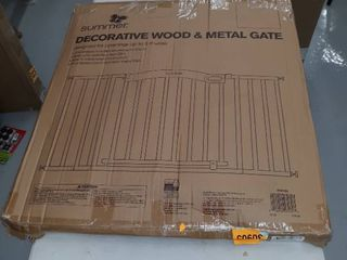 Decorative Wood   Metal Gate