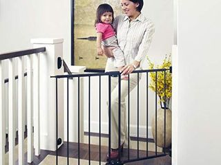Toddleroo 47 85  Wide Easy Swing   lock Baby Gate  Fits Openings 28 68    47 85  Wide  31  Tall  Matte Bronze