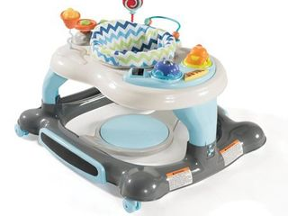 Storkcraft 3 in 1 Activity Center Walker and Rocker with Jumping Board and Feeding Tray Blue Gray