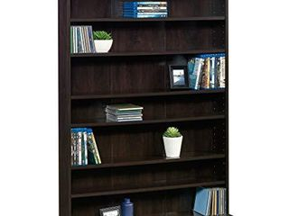Sauder Multimedia Storage Tower  Cinnamon Cherry finish