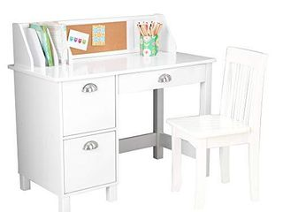 KidKraft Kids Study Desk with Chair White