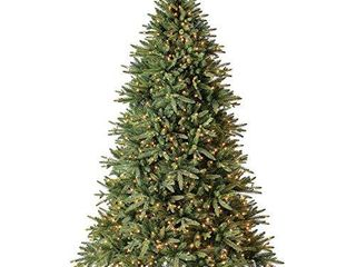 Evergreen Classics 7 5 ft Pre lit Colorado Spruce Quick Set Artificial Christmas Tree  Clear lights