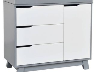 Babyletto Hudson 3 Drawer Changer Dresser with Changing Tray   Gray White