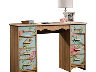 Sauder Eden Rue Desk  Scribed Oak finish  DAMAGED