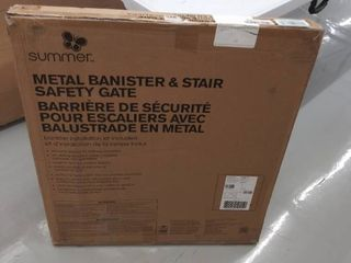 Summer Metal Banister Stair Metal Gate Gate  White 32 5a 27903z