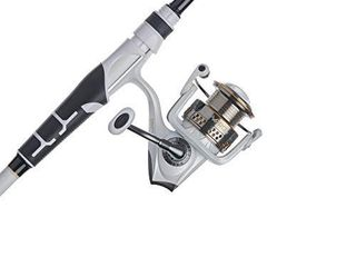 Abu Garcia Max Pro Spinning Reel and Fishing Rod Combo DAMAGED  POlE IS BROKEN