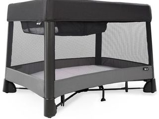4moms breeze plus One Handed Set Up Playard with a Removable Bassinet and Changer   Black