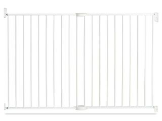 Munchkin Extending Metal Gate Tall   Wide Baby Gate  White