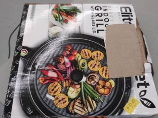 Elite   Indoor Electric Grill   Black
