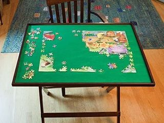 Bits And Pieces   Wooden Fold and go Jigsaw Table collapsible Jigsaw Puzzle
