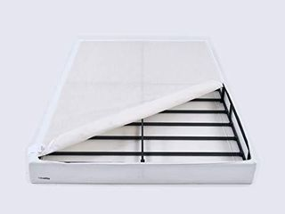 AmazonBasics Mattress Foundation  Smart Box Spring  Tool Free Easy Assembly   7 Inch  Queen