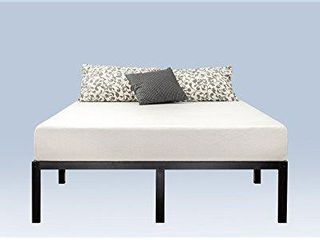 Zinus 14 Inch Classic Metal Platform Bed Frame with Steel Slat Support   Mattress Foundation  Queen