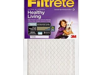 Filtrete Ultra Allergen Filter  1500 MPR  16 Inch by 20 Inch by 1 Inch  4 Pack