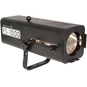 ADJ Products FS 1000 High Powered Followspot with 575 Watt Halogen lamp in Extruded Aluminum Case