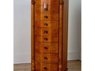 Florence Standing Jewelry Armoire Oak Brown   Hives   Honey