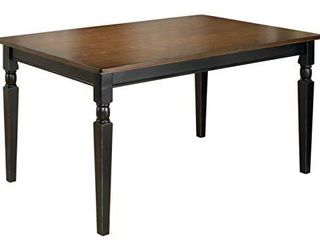 Signature Design by Ashley Owingsville Dining Room Table  Black Brown