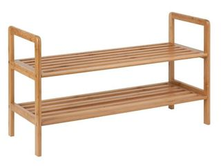 Honey Can Do Bamboo 2 Tier Shoe Shelf