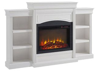 Ameriwood Home lamont Mantel Fireplace  White