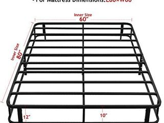 KUNPENG 12 Inch Mattress Foundation Box Spring with legs Strong Steel Structure Easy to Assemble  Queen
