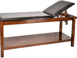 AdirMed Mahogany Wooden Exam Table with full shelf   Treatment table for hospital or clinic