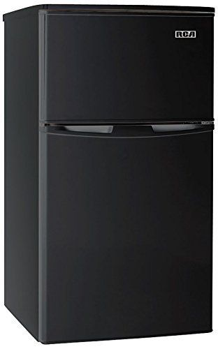 RCA RFR835 Black 3 2 Cubc Foot 2 Door Fridge and Freezer  Black
