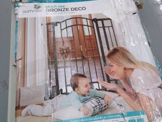 Summer Infant Multi Use Bronze Deco Extra Tall Walk Thru Gate   Not Inspected