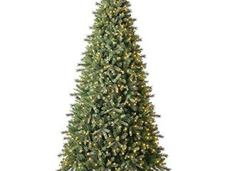 Evergreen Classics 9 ft Pre lit Norway Spruce Quick Set Artificial Christmas Tree  Warm White lED lights