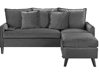 Casa AndreaMilano Furniture Classic Sectional  Rust  Dark Grey