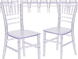 Flash Furniture 10 Pack Kids Crystal Transparent Chiavari Chair   Not Inspected