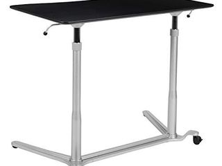 Flash Furniture Sit Down  Stand Up Black Computer Ergonomic Desk with 37 375 W Top  Adjustable Range 29    40 75