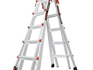 little Giant ladders  Velocity with Wheels  M22  22 Ft  Multi Position ladder  Aluminum  Type 1A  300 lbs weight rating   15422 001