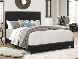 Crown Mark Erin Faux leather Bed  Black  Full