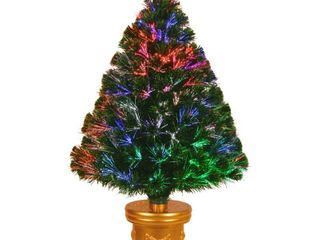 36  Fiber Optic Fireworks Evergreen Tree