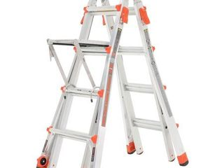 little Giant Velocity 17 Foot Aluminum Adjustable Folding ladder   Work Platform