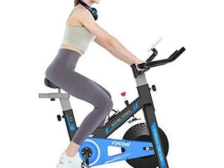 cycool Stationary Bike Exercise Bike Belt Drive Indoor Cycling Bike with Phone Stand lCD Monitor Comfortable Seat Cushion  cycoolC1 2