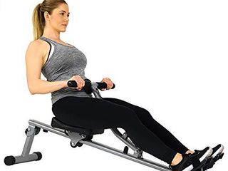 Sunny Health   Fitness SF RW1205 Rowing Machine Rower w  12 level Adjustable Resistance  Digital Monitor and 220 lB Max Weight