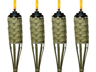 TIKI Brand 57 Inch luau Bamboo Torches   4 pack DAMAGED