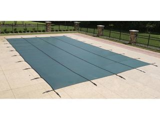 Blue Wave 20 ft x 40 ft Rectangular In Ground Pool Safety Cover   Green