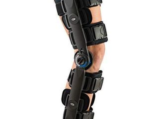 FitPro Adjustable Range of Motion Post Op Knee Stabilizer Brace with Cool Pads  Regular  Amazon Exclusive Brand