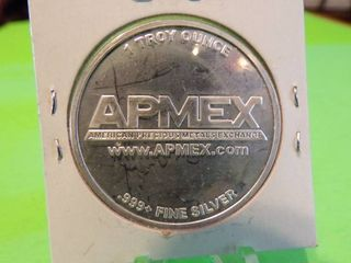 APMEX ROUND 1 TROY OUNCE  999 SIlVER