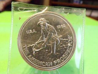 THE AMERICAN PROSPECTOR 1 TROY OUNCE SIlVER ROUND