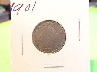 1901  V  NICKEl