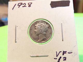 1928 MERCURY DIME VF12