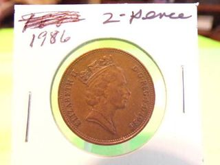 1986   2 PENCE COIN