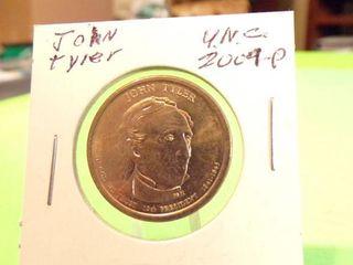 2009 P JOHN TYlER PRESIDENTIAl DOllAR UNC
