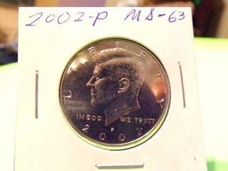 2002 KENNEDY HAlF MS63