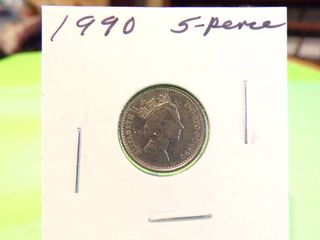 1990   5 PENCE COIN