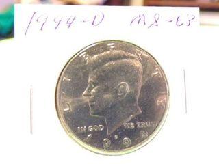 1994 D KENNEDY HAlF MS63