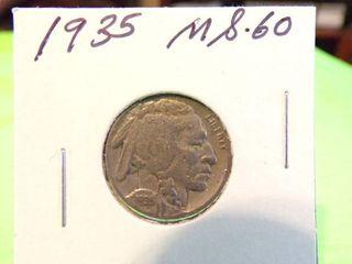 1935 BUFFAlO NICKEl MS60
